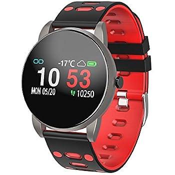Reloj Inteligente, Smartwatch con Pulsómetro Pulsera Actividad Multifuncion Color Monitor Reloj Deportivo Monitor de Sueño Hombre Mujer niños para ...