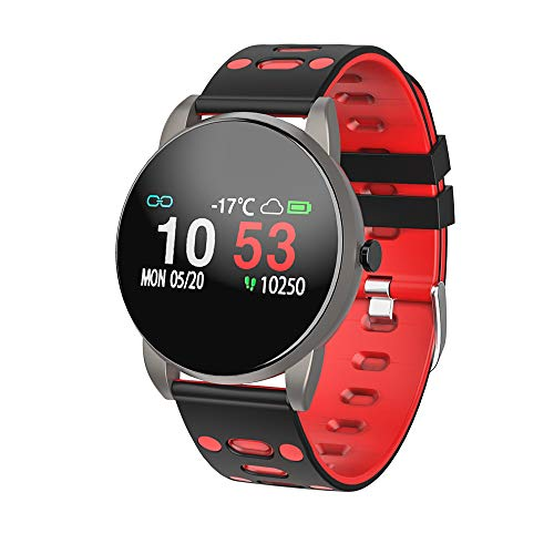 MOTOK Smartwatch, Fitness Armband Tracker IP67 Wasserdicht Smart Watch Intelligente Aktivitäts Uhr Sportuhr, Damen Herren Pulsmesser Schlafmonitor SMS Beachten Armbanduhr für Android iOS