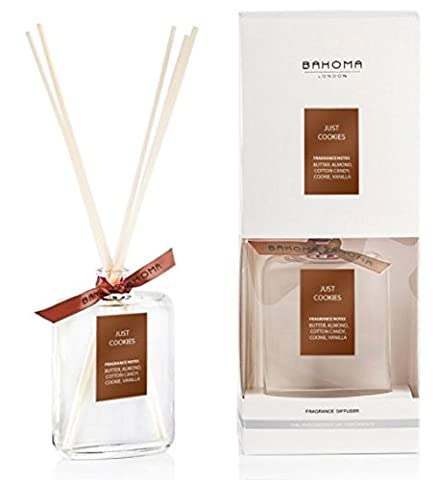 BAHOMA London Alcohol-free Fragrance Reed Diffuser, 100 ml perfume bottle; Handmade in London; Made in UK (Just