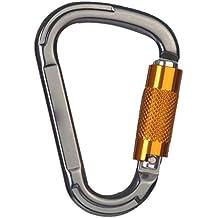 Providethebest Forma XINDA automático de seguridad 25KN Master Lock D pera tornillo Puerta hebilla de la cerradura de la roca escalada al aire libre Senderismo bloqueo Mosquetón