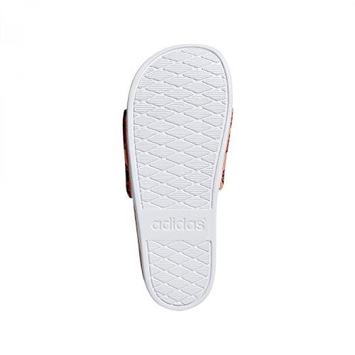 Adidas Damen Adilette Cf + Gr Badeschuhe Marciume (traccia Scarlatto / Gesso Corallo / Calzatura Bianca)