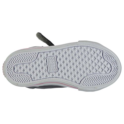 Soulcal Enfant Asti Chaussures Montantes Filles Baskets A Lacets Sneakers Casual Charcoal/Check