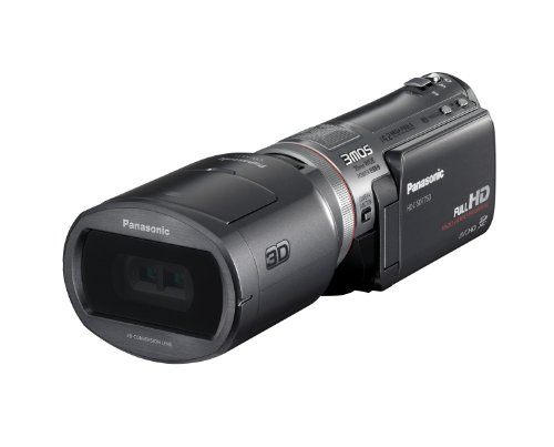 Panasonic HDC-SDT750EG Full HD 3D Camcorder (SD-Kartenslot, 12-fach opt. Zoom, 7,6 cm (3 Zoll) Display, Bildstabilisator) schwarz