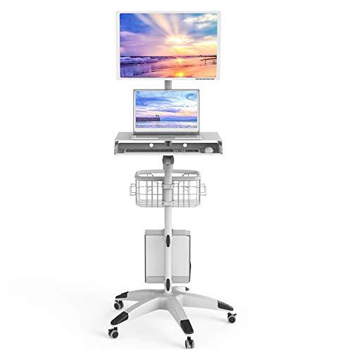Laptopständer DD Justierbarer Laptop-Stand-Schreibtisch, Für Laptop-Behälter-Tabelle Mit Mäusebrett ,Tragbarer Computertisch,Mit Regalen...