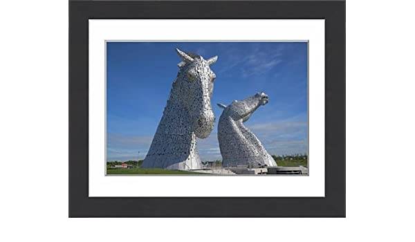 Framed 16x12 print of the kelpies falkirk 11748208 amazon co uk kitchen home