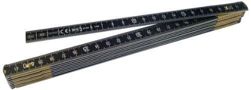 Metrica 21036 2 m Alu-Gliedermassstab Oxyd, schwarz
