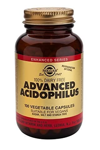 Solgar-Advanced Acidophilus (Non-Dairy): 100 Vegetable Capsules
