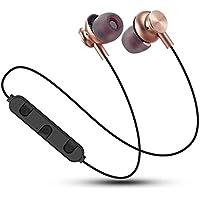 Jiffa Bomu résistant à la Transpiration sans Fil BT Écouteurs Sport Gym pour iPhone pour Samsung doré