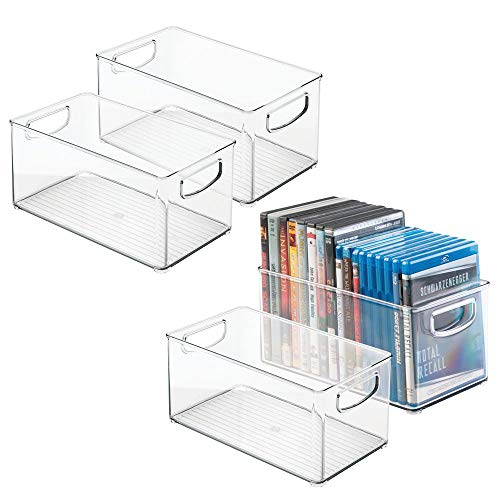 mDesign DVD Storage Boxes with H...