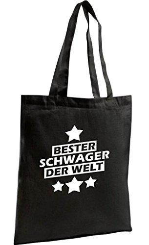 Shopping-bag Zamellino Biologico Zen, Lo Shopping Migliore Fratello Del Mondo, Nero
