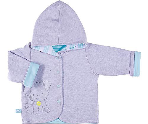 Be Mammy Jersey con Capucha Ropa Bebé BEEK0006 (Mezcla de Color/Azul Cielo, 74)