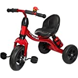 Wave Mart super kid metal tricycle with sipper & bell(RED)
