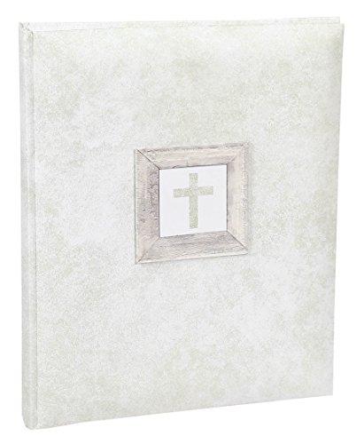 Konfirmation / Kommunion Fotoalbum in 22x27 cm 40 weiße Seiten Foto Album: Farbe: Beige