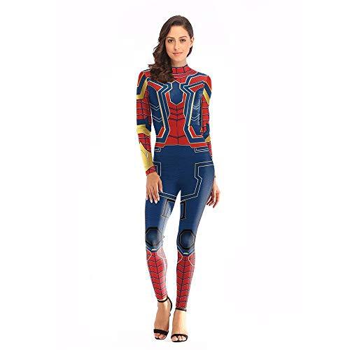 Spider Man New Nanosuit Printed Jumpsuit Cosplay,L/XL ()
