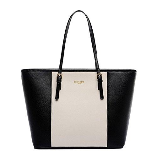 GMYANDJB Taschen für Frauen Designer Luxus Handtaschen Damen Shopper Bag Sac Große Kapazität Tote Classic Damen Schultertasche - Schwarz Weiß -