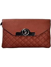 Shopclans Brown Color Handbag For Girls / Women's (SPC-078)