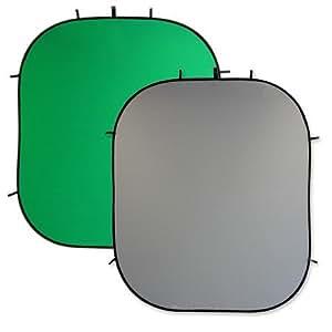 METTLE Falthintergrund 2,10x1,80 m, grau-grün