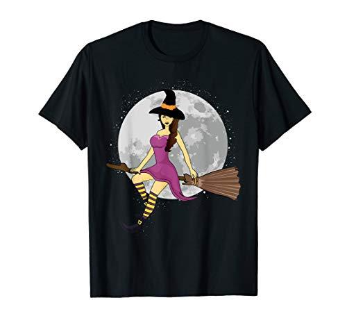 nd-Halloween-Hexen-Besenstiel T-Shirt ()