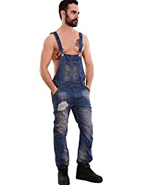 Men's key denim overalls size, slightly faded but in good usable condition.
