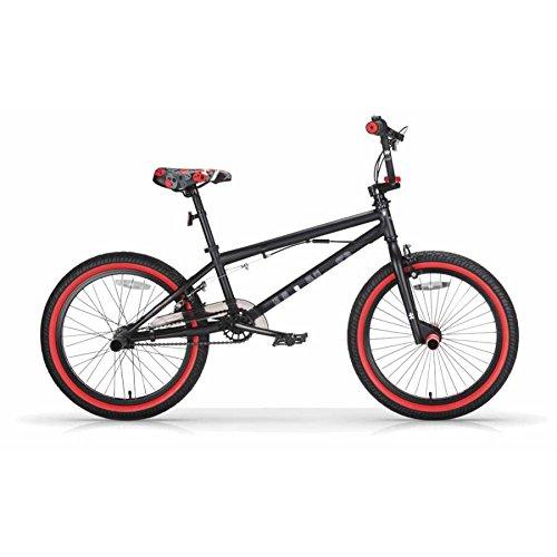 MBM BMX U-N+O, Bici da Freestyle Unisex Bambini, Nero A01, 20