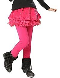 Algodón Pantalones largos de las muchachas calientes de las polainas de los cabritos de las caída del invierno de los cabritos de los niños de Kootk Edad 2-13 años Café Azul marino Rose Rojo