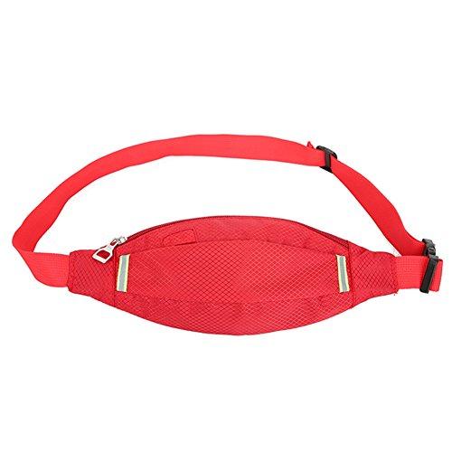 Reefa Unisex Diamant-förmigen Sommer Running Sport Multifunktionale Taille Tasche Rot