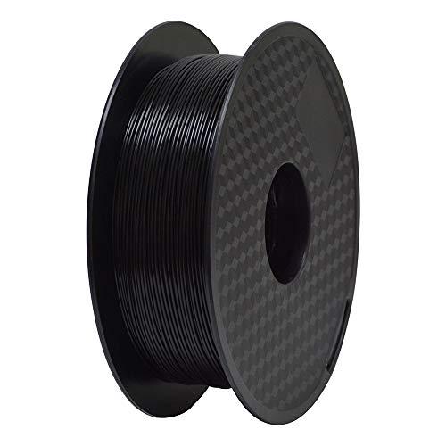TEQStone ABS Filament 1,75 mm 1 kg für 3D Drucker und 3D-Stifte in Vakuumverpackung (Schwarz)