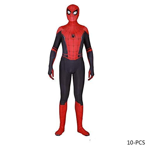 TENGDA Erwachsene Kinder Spider-Man NEU Erwachsene Kinder Spider-Man 2019 Halloween Kostüm Overall 3D Print Spandex Lycra Spiderman - Cosplay Kostüm Body C-Adult/L,Siamese-XXXL (Erwachsene 2019 Halloween-kostüme)