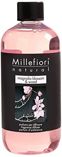 Millefiori natural ricarica per diffusore di fragranza per ambienti 250ml fragranza magnolia blossom & wood