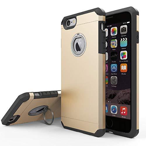 Hydromax Golfschuh (K8U129 @FATO 2 in 1 Hybrid TPU PC-Ring-Halter Buckle Halter Standplatz-Fall rückseitige Abdeckung für iPhone 7 Plus 5,5 Zoll)