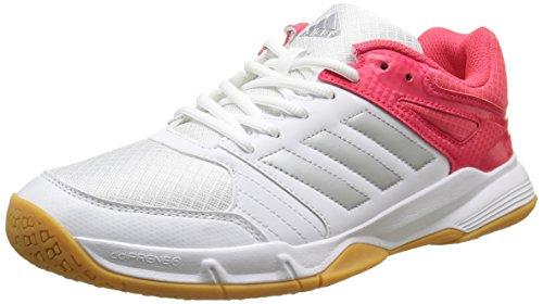 Adidas Damen Speedcourt W Handballschuhe, Weiß (Weiß/Silber/Rot), 42 EU (8 UK)