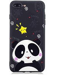 Flymaff - Carcasa para iPhone 7 Plus y iPhone 8 Plus (Incluye Protector de Pantalla de Cristal, Pintura Colorida, Ultrafina, Antideslizante, Suave TPU para iPhone 7 Plus/iPhone 8 Plus)