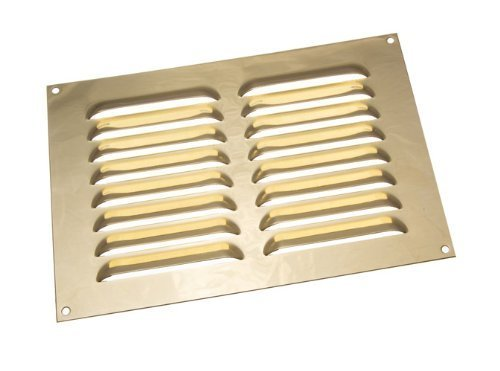 Messing poliert Louvre Kühlergrill ventilation Deckel 9 x 6 Zoll (Packung mit 25)