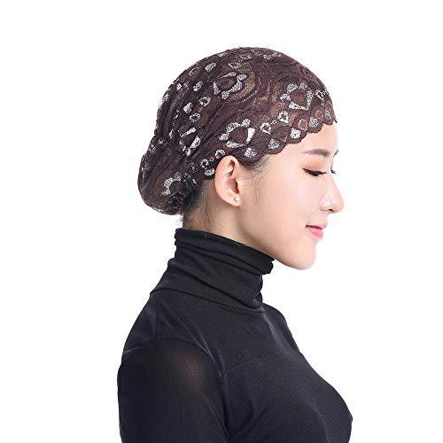 Cinnamou Sexy Femmes Musulman Stretch Dentelle Turban Chapeau Chemo Cap  Perte De Tête Foulard Écharpe Wrap eaf6068e7ad
