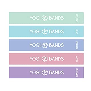 Yogi Bands by XNM Creations| Resistance Loop Exercise Fitness Workout Bands| Set of 5
