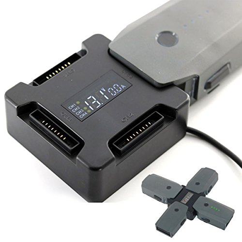 Preisvergleich Produktbild Flycoo 4 Ports Akku-Ladegerät Hub Für DJI Mavic Pro Drone Intelligent Multi Battery Charger Digital Screen Dispaly
