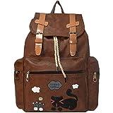 TYPIFY® Designer Leatherette Backpack Purse for Women, Fashion PU Shoulder Bag Handbags