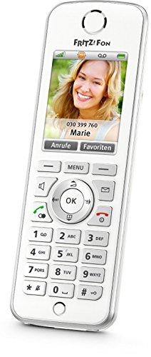 AVM FRITZ!Fon C4 Telefon (Farbdisplay beleuchtete Tastatur) weiß Amazon (Generalüberholt)