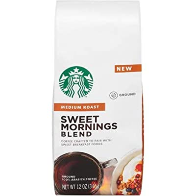 Starbucks Ground Coffee Medium Roast Sweet Mornings Blend (12 oz Bag)