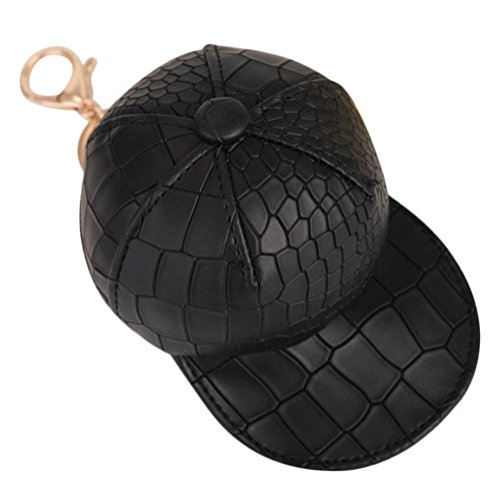 Hosaire 1x Keychain Taschenanhänger Mode Mini Hut Form Geldbörse Leder Anhänger Schlüsselbund Keys Anhänger Rucksack Deko Schlüsselanhänger -