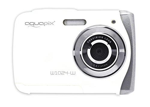 """Easypix Aquapix W1024 - Cámara compacta Digital (10 MP, 2.4"""", Zoom Digital 4X, VGA), Color Blanco"""