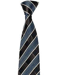 MAILANDO Herren Krawatte, kariert, viele Farben, rot – schwarz – weiss – braun – blau