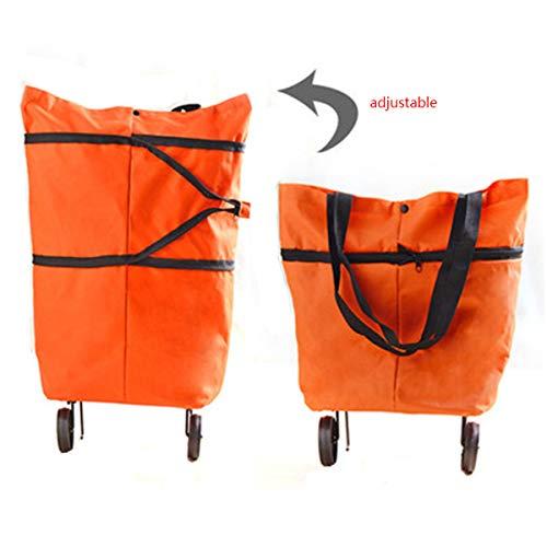Maria# Einkaufstasche mit klappbaren Rädern und Stützen (faltbar - leicht - wasserabweisend) Shopping Bag Einkaufstrolley Räder Tasche Trolley
