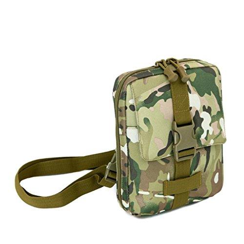 F@Esercito ventilatore nylon impermeabile borsa a tracolla borsa all'aperto borsa borse tattiche Messenger borse uomo custodia tool Digital Camo , F A