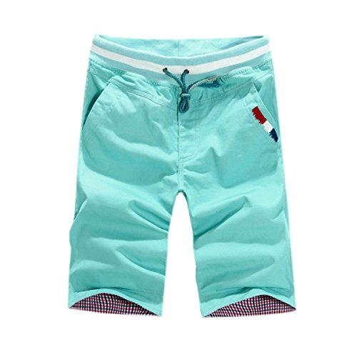 Estate Maschio Casuale 5 Indica I Pantaloni Lo Sport In Forma Cotone Pantaloncini Da Spiaggia Green02