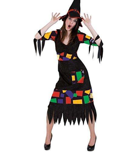 Halloweenkostüm Flickenhexe, für Erwachsene, Mottoparty, Karneval, Gruselparty (40) (Voodoo Puppe Kostüm Zubehör)