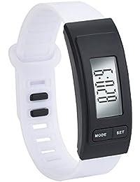 OHQ Reloj Run Step Reloj Pulsera PodóMetro Calor Contador Digital LCD Walking Distance Pulsera Reloj Inteligente Marcar El Reloj Reloj ElectróNico