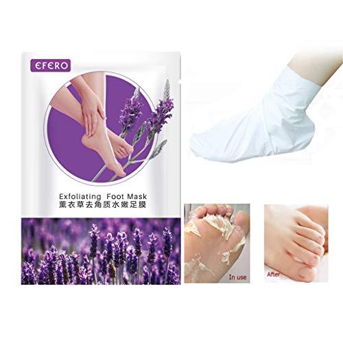 Hornhautsocken Salicylsäure,Peeling Fußmaske Peeling Fußmaske Socken Baby Füße Maske Erneuerung 1 Paar,Feuchtigkeitsspendende Handschuhe,Weiß,1 Paar -