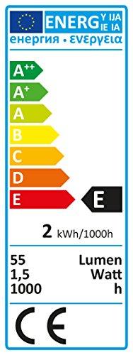 Konstsmide 1020-020 - Bombilla con forma de llama (E10, 230 V, 1,5 W)