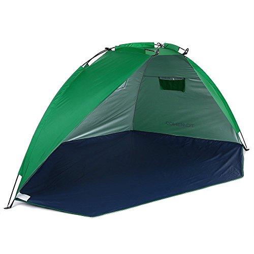 TOMSHOO Strandmuschel Camping Zelt Strandzelt Sonnenschutz für Angeln Picknick